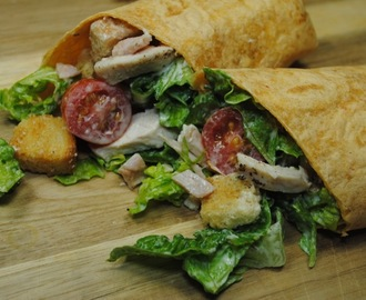Chicken And Bacon Caesar Wraps Recipe