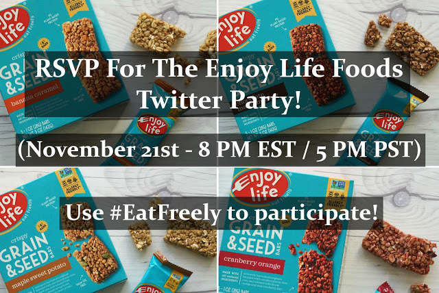 RSVP For The Enjoy Life Foods Twitter Party! (November 21st - 8 PM EST)