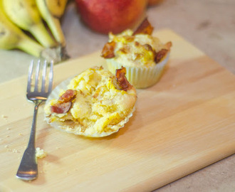 Breakfast Cornbread Cupcakes with Smokey Bacon, Gouda and Eggs