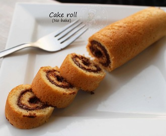 EASY SWISS ROLL CAKE RECIPE - ROLL CAKE IN A FRYING PAN