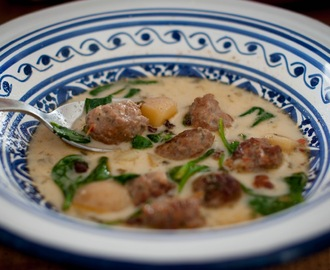 Sausage, Spinach & Potato Soup