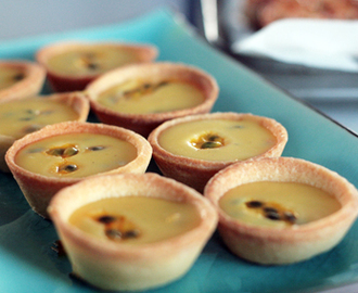 ※ White Choc & Passion Fruit Tarts