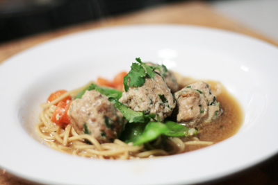 ※ Asian Chicken meatballs