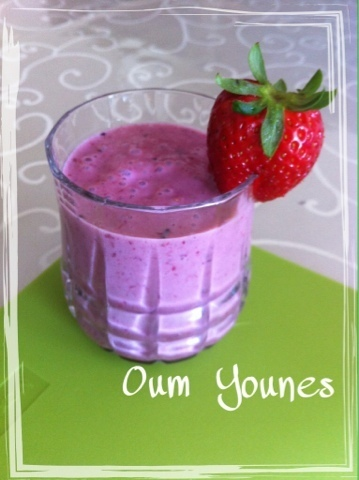 Rode vruchten smoothie