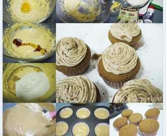 怡保白咖啡杯子蛋糕佐咖啡奶油 White Coffee Cupcakes frosted with coffee butter cream
