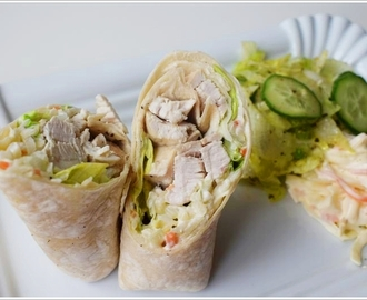 Let's wrap it up: Hühner-Krautsalat Wrap (GF & Low Carb)