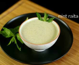pudina raita recipe | mint raita recipe | mint raita sauce recipe