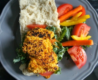Jamie Oliver inspired vegan chickpea and carrot burgers