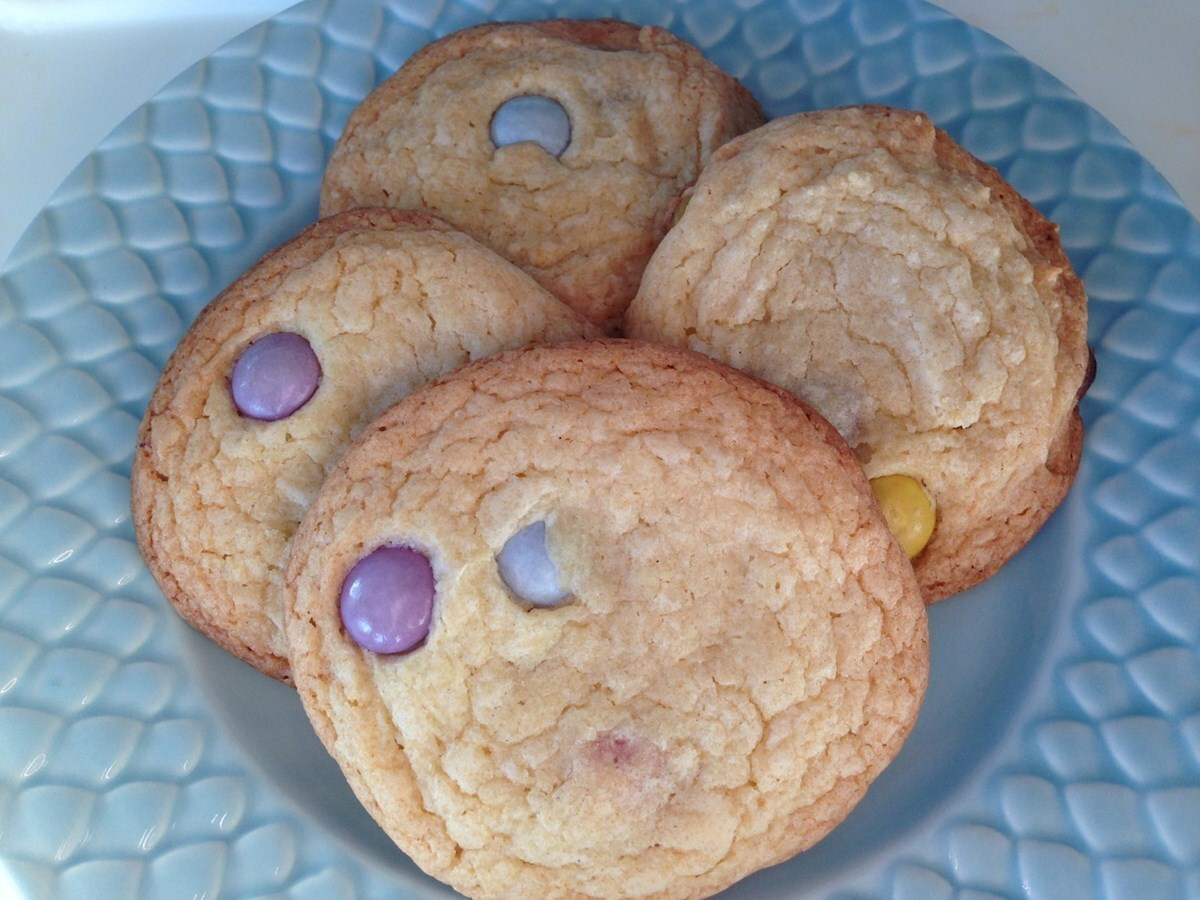 Chocolate chip cookies med smarties