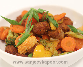 Desi Soya Stir Fry Recipe Card