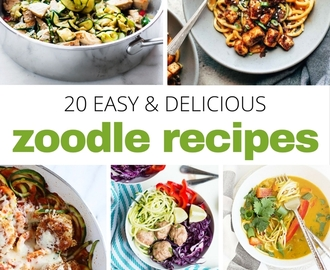 You'll Want to Stock Up on Zucchini When You See These Amazing Zoodle Recipes