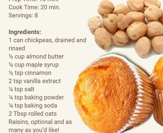 The Best Vegan Secret Chickpea Muffins | Vegan eating, Recipes, Vegan recipes