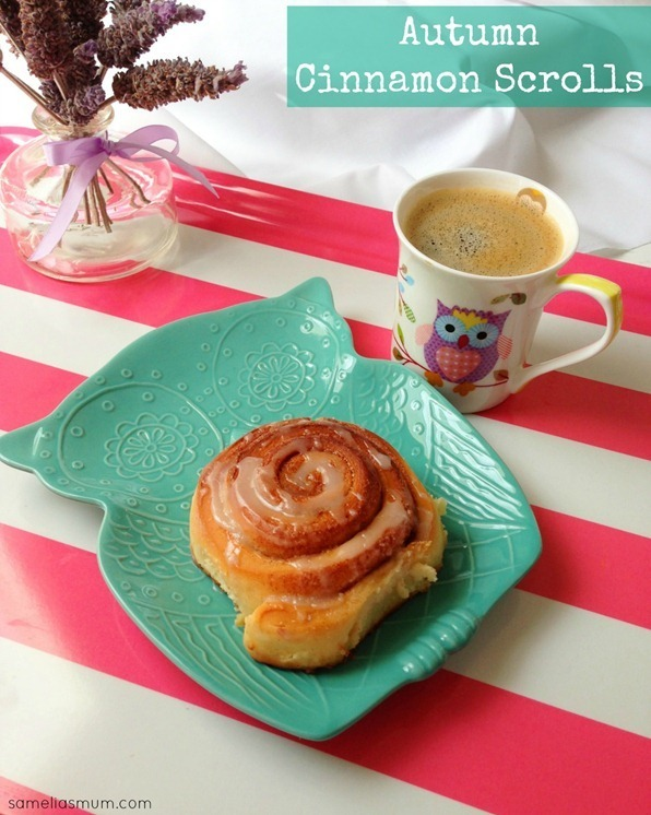 Autumn Cinnamon Scrolls {Recipe}