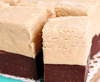 Easy Double Decker Peanut Butter Chocolate Fudge