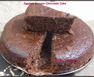 Eggless Banana Chocolate Cake