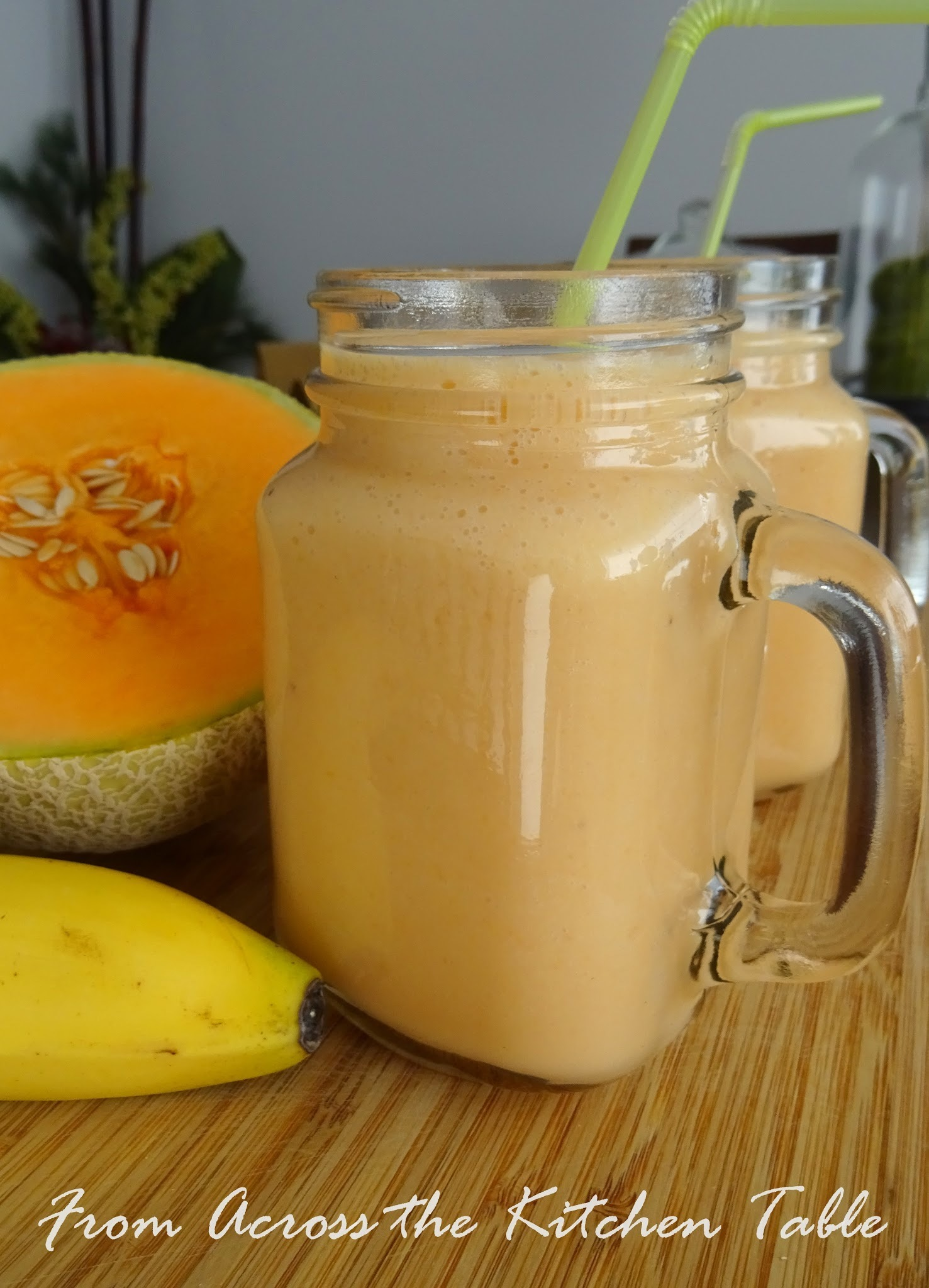 Rockmelon and Banana Smoothie