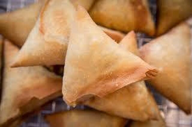 Small Onion Samosa - Using Spring Roll sheet