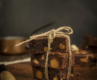 Whittaker's Peanut Butter Chocolate and Caramel Brownie