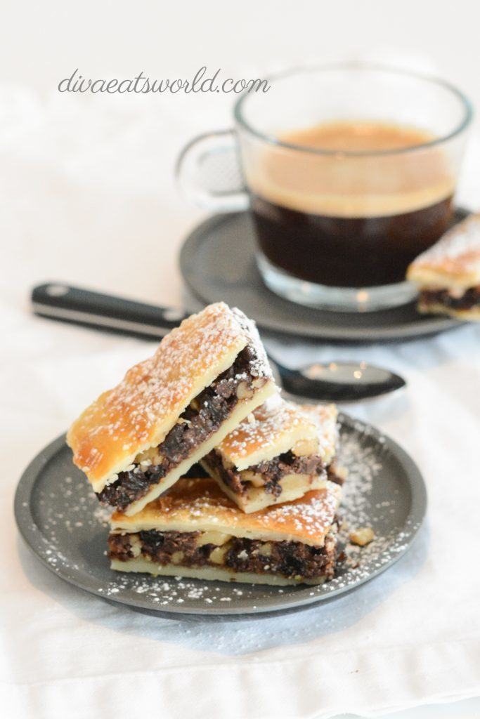 CHOCOLATE RUGELACH BARS