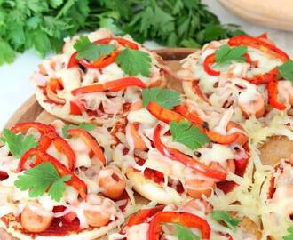 Mini Bread Hot Dog Pizzas