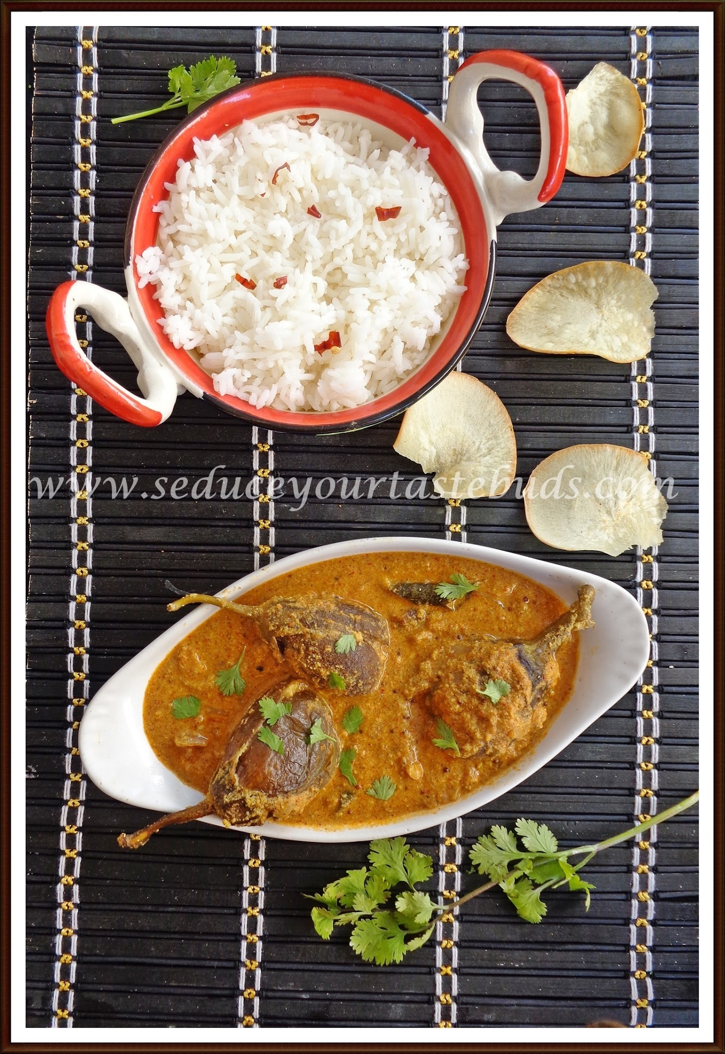 Stuffed Baby Brinjal Curry