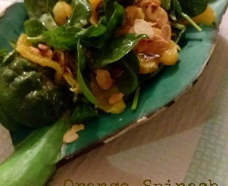 Orange, Spinach & Almond Salad