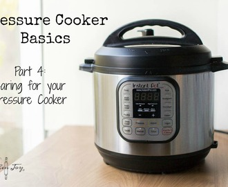 Pressure Cooker Basics Part 4: Cleaning and Caring for your Pressure Cooker