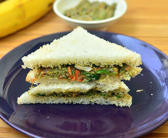 Indian Vegetarian Avocado Sandwich Recipe – Guacamole Sandwich Recipe