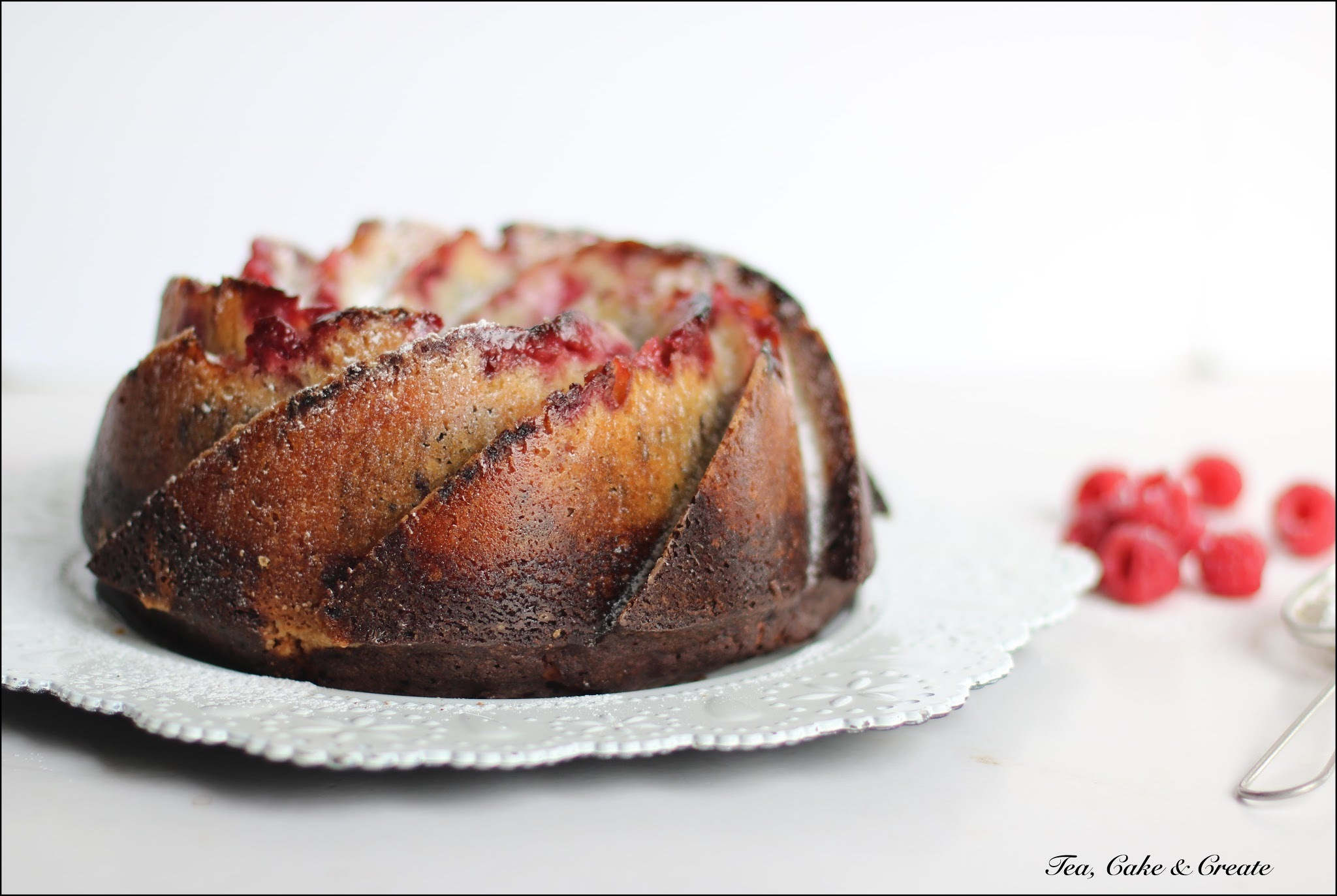 Marbled Raspberry Bundt Cake
