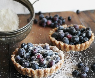 blueberry tarts for two