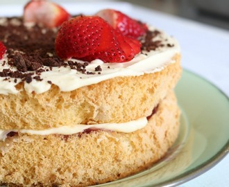 Thermomix Sponge Cake With Jam & Cream