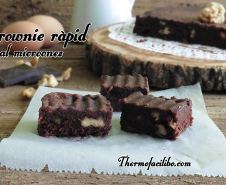 Brownie ràpid al microones