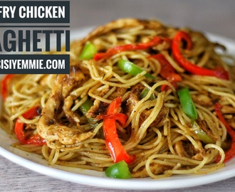 STIR-FRY CHICKEN SPAGHETTI!