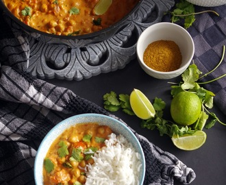 Curry de pois-chiches au lait de coco (Vegan & sans gluten)