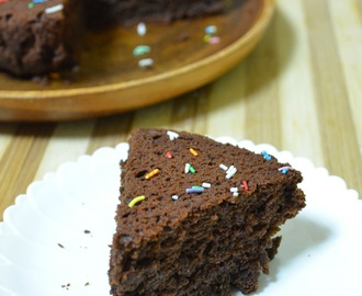Eggless Choco Coffee Cake | Using Wheat flour and Date syrup