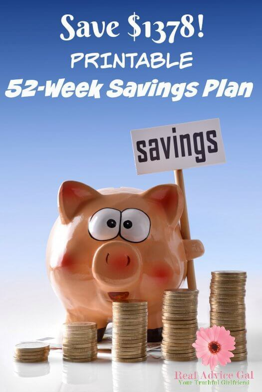 Money Savings Challenge: 52 Week Savings Plan