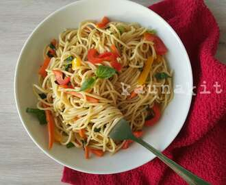 Stir Fry Peppersoup Spaghetti
