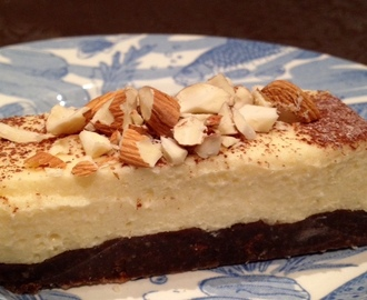 Mocha Almond Cheesecake Slice