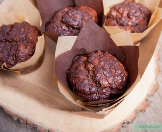 Chocolade courgette muffins