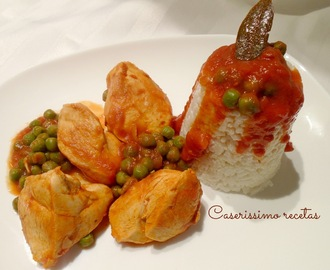 SUPREMAS EN SALSA CON TIMBAL DE ARROZ (LIGHT)