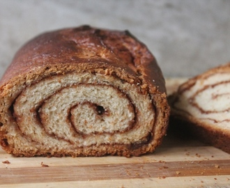 Cinnamon Swirl Bread Recipe - Eggless Cinnamon Bread Recipe