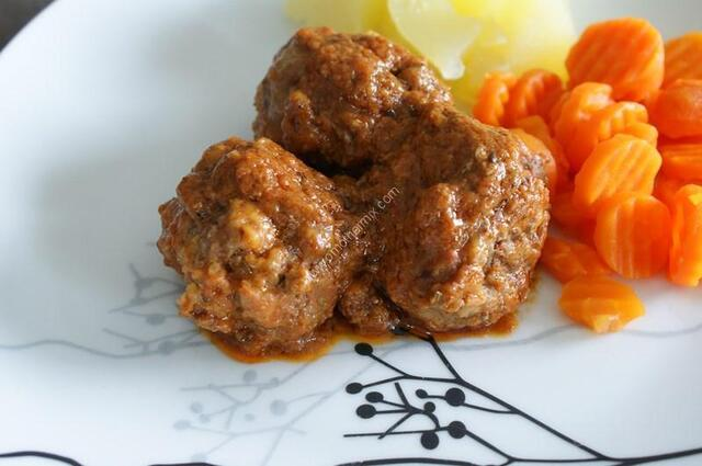 meatballs tomato sauce  with thermomix of Vorwerk