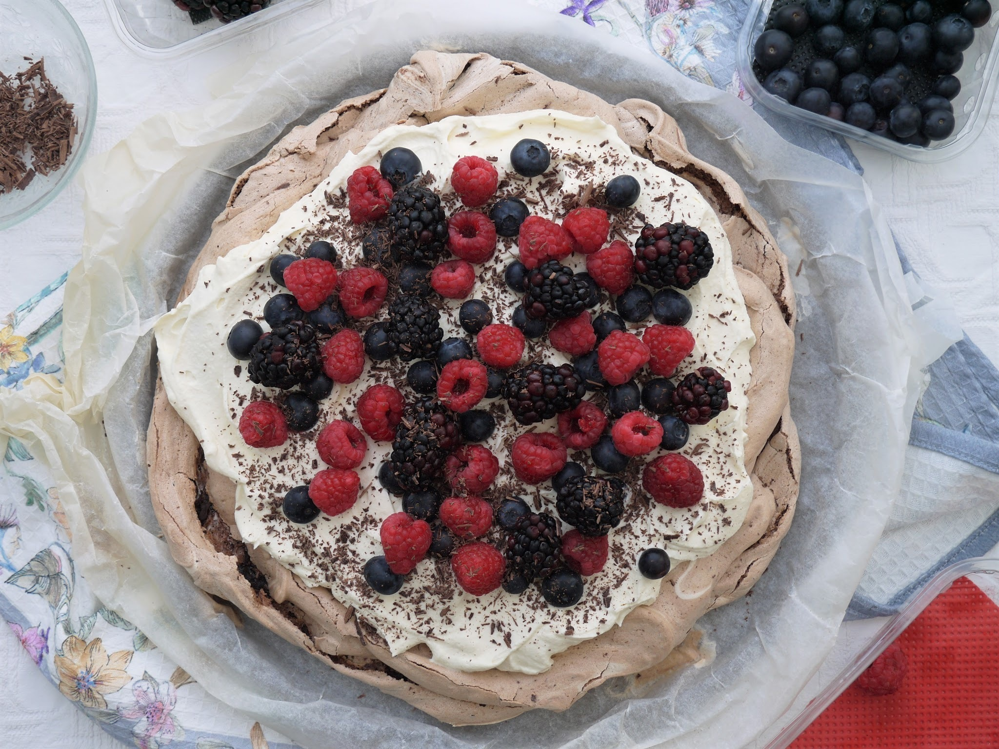 Chocolate Cheesecake Pavlova.