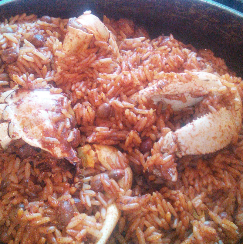 Bahamian Crab and Rice