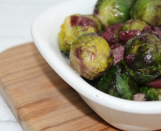 Pancetta And Red Wine Brussels Sprouts