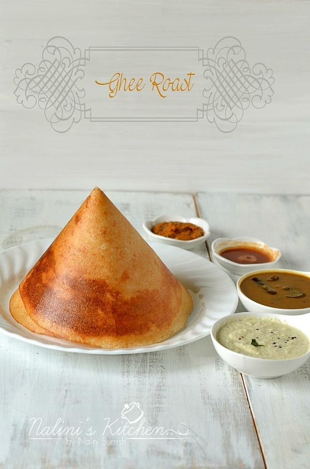 Cone Dosa and Ghee Roast