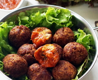 Fried Plantain MeatBalls