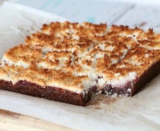 Thermomix Jammy Chocolate Coconut Slice