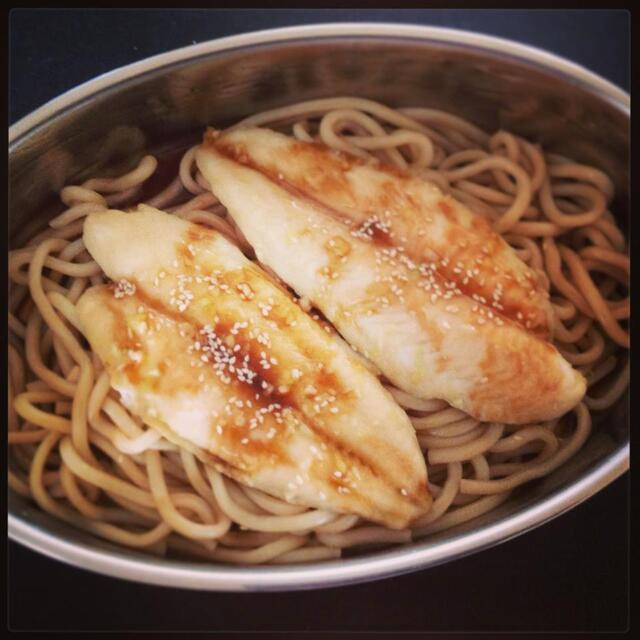 Teriyaki Style Fish & Udon Noodles with steamed veggies | Thermomix Recipes
