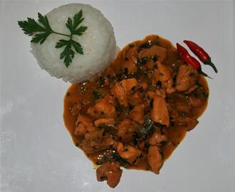 Pollo al curry (estilo Madras)